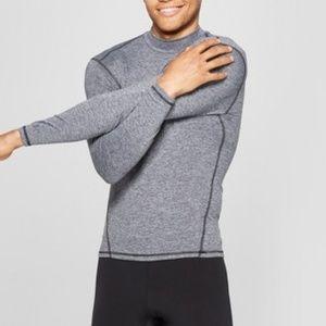Men's Long Sleeve Compression Mock T-Shirt - C9 Ch